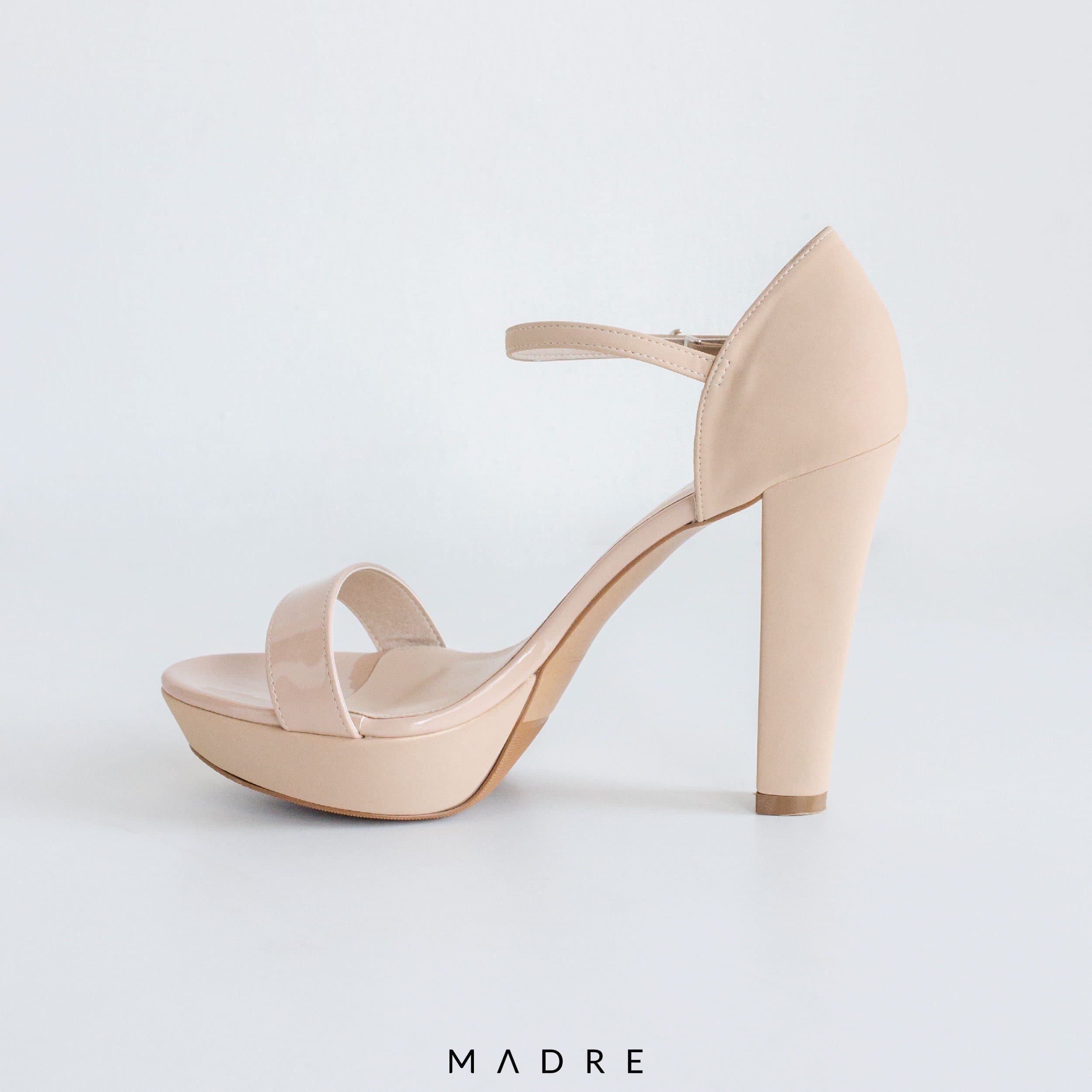 Eldora Block Heels Madre Collection 38 NUDE