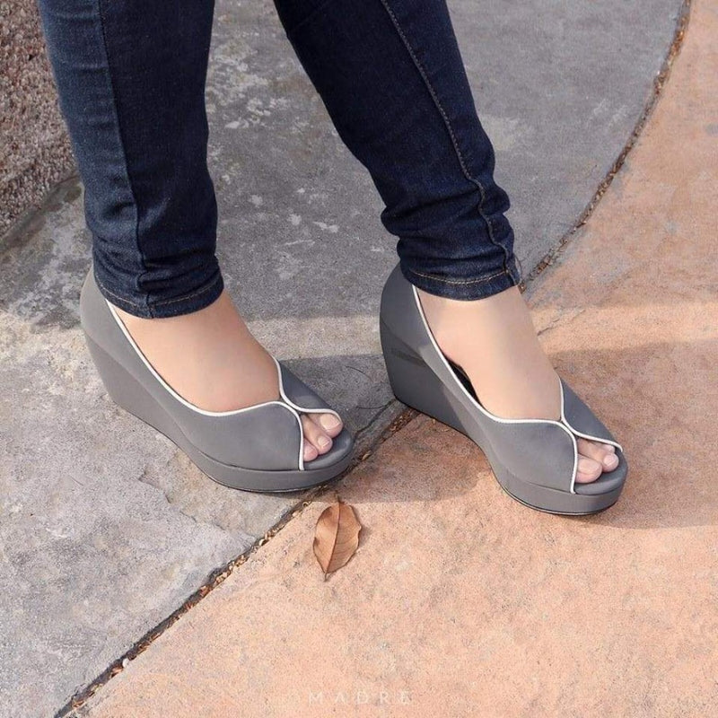 Tania Wedges Madre Collection 35 Grey