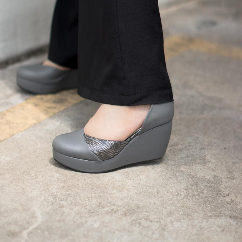 Helena Wedges Madre Collection 35 Grey