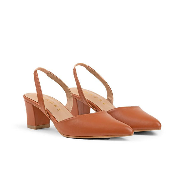 Ivy Block Heels Madre 35 Brown