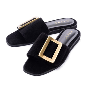 Rustica Flat Shoes Madre Collection 36 Black
