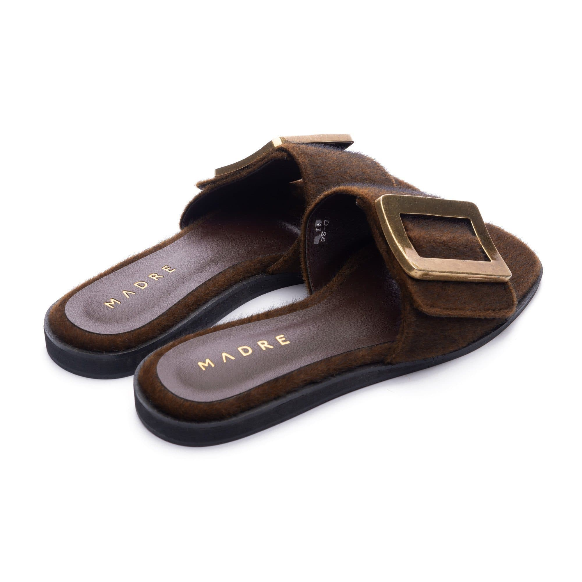 Rustica Flat Shoes Madre Collection 36 Brown