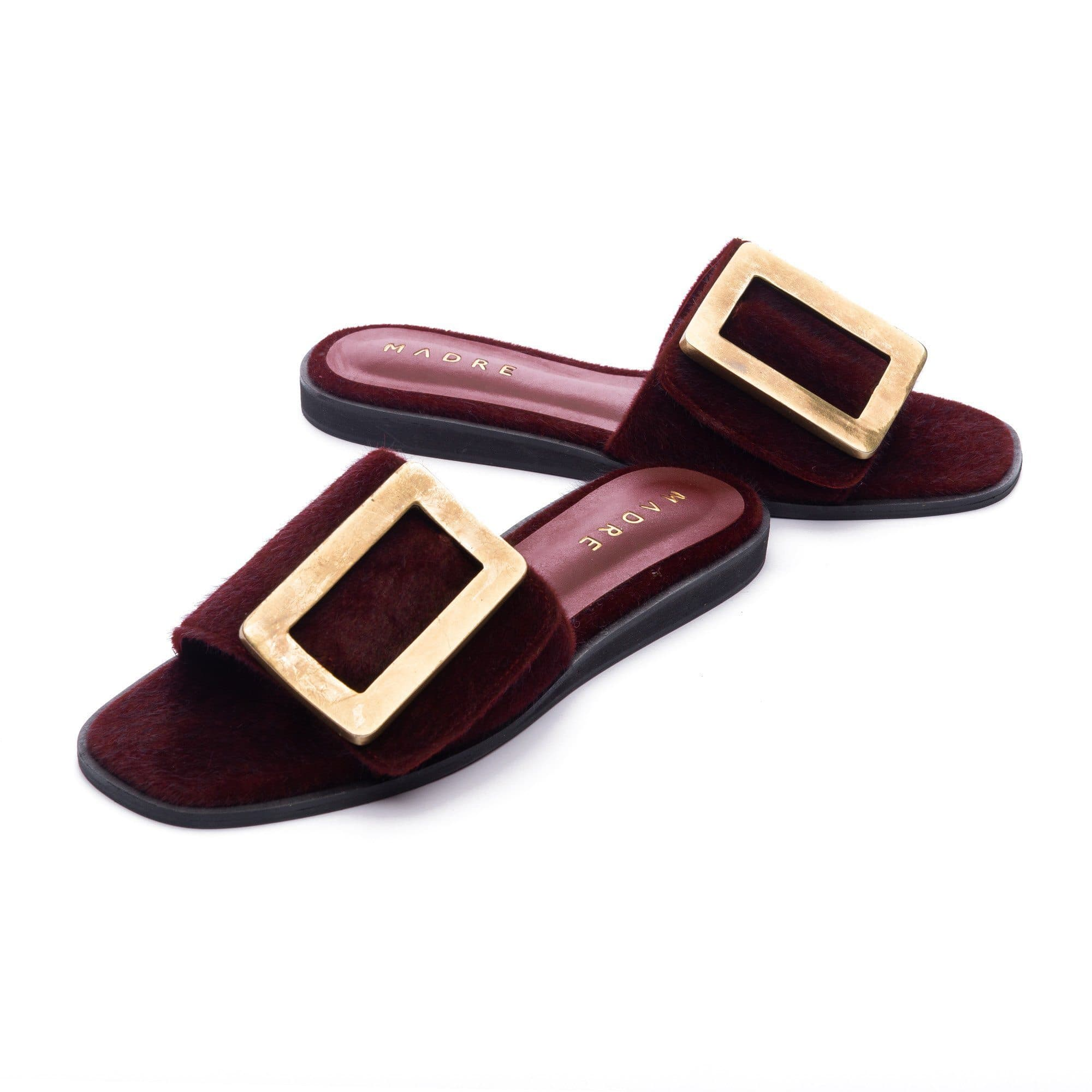 Rustica Flat Shoes Madre Collection 36 Maroon