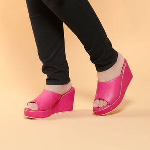 Stella Wedges Madre Collection 35 Hot Pink