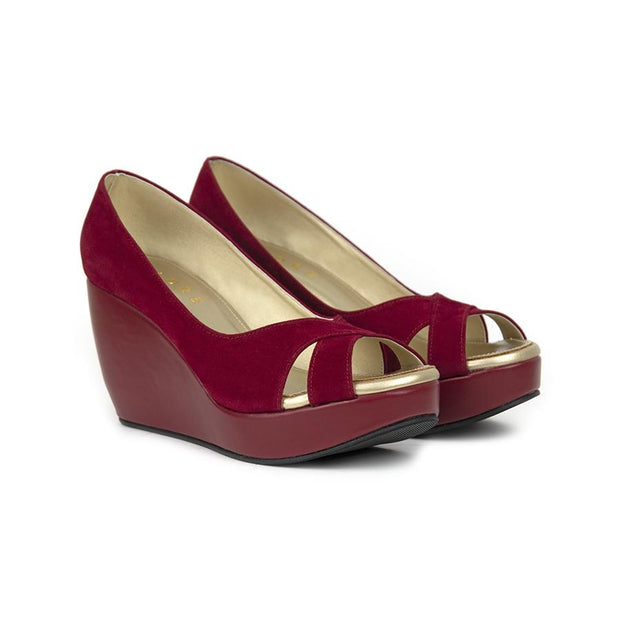 Rossa Wedges Madre 35 Maroon