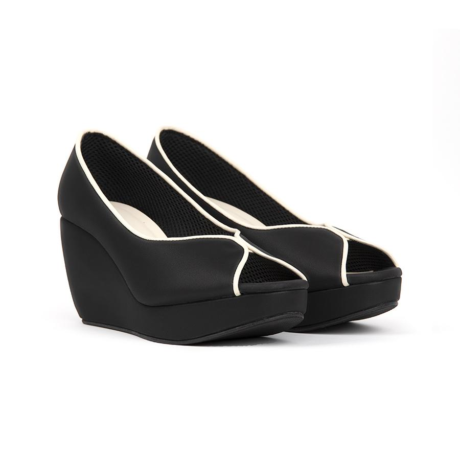 Tania Wedges Madre 35 Black