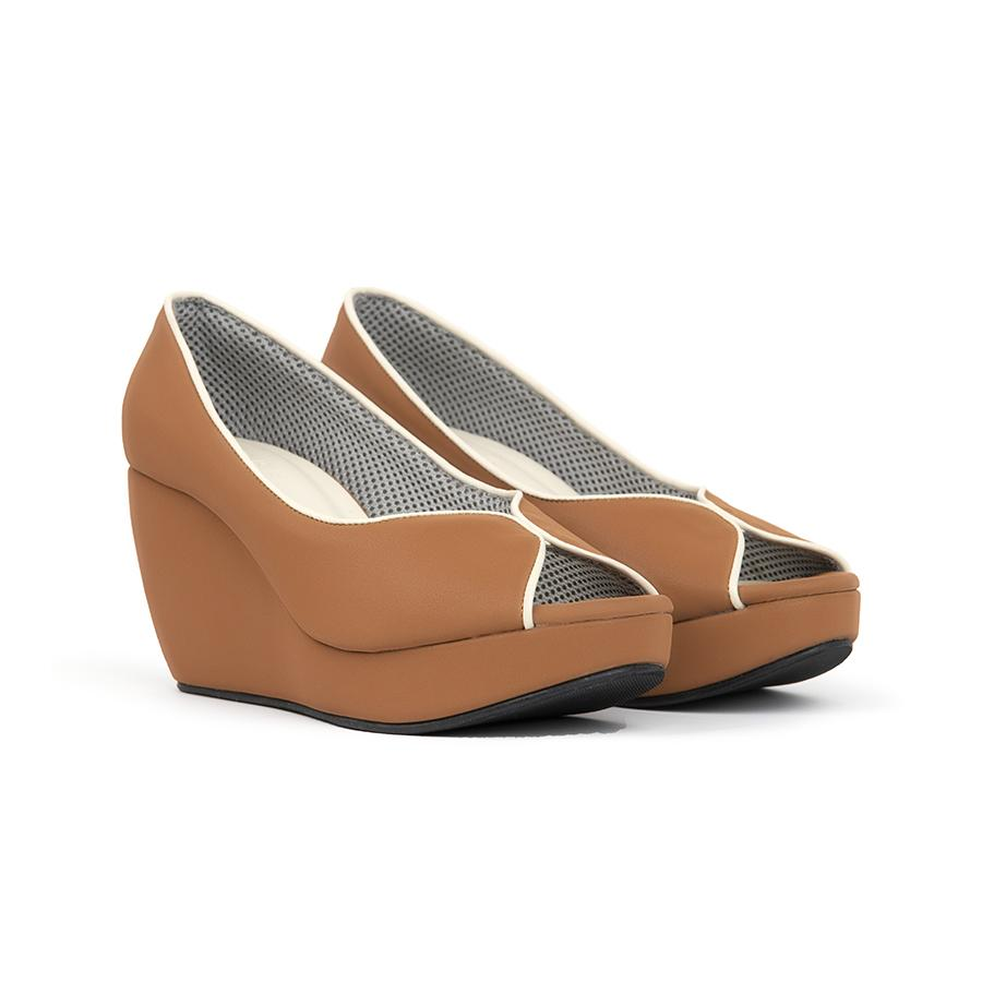 Tania Wedges Madre 35 Brown
