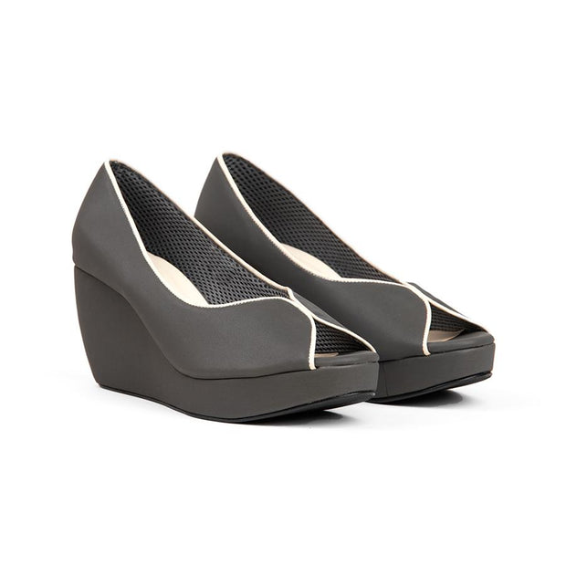 Tania Wedges Madre 35 Grey