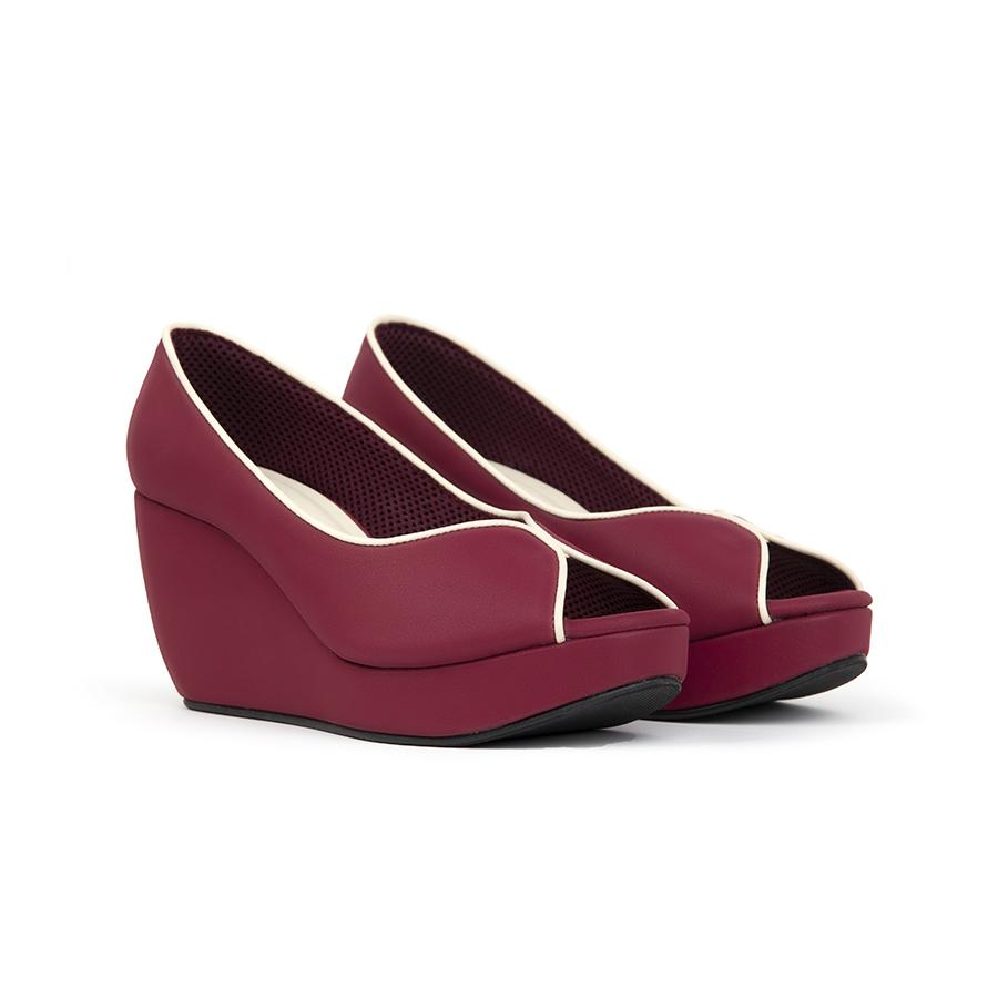 Tania Wedges Madre 35 Maroon