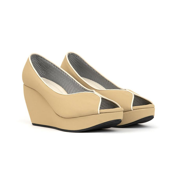 Tania Wedges Madre 35 Beige