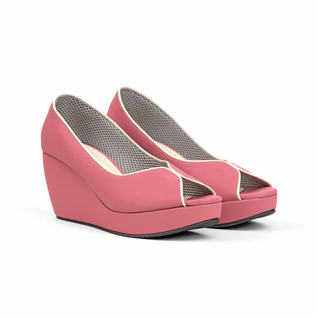 Tania Wedges Madre 35 Pink