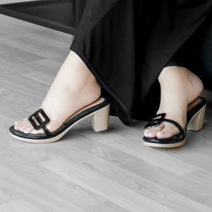 Calyta Heels Madre Collection 36 Black