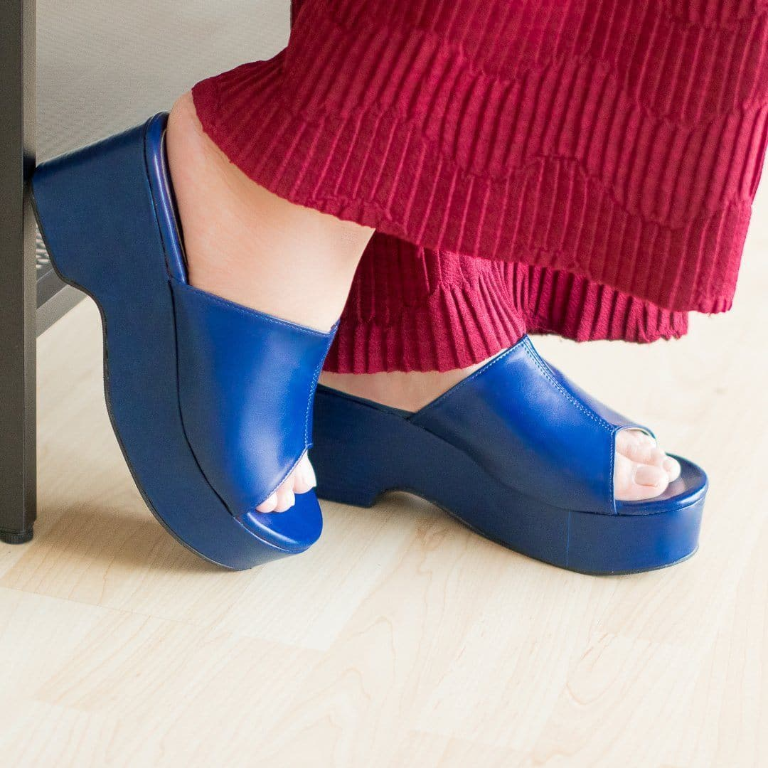 Zevvy Wedges Madre Collection 35 Blue