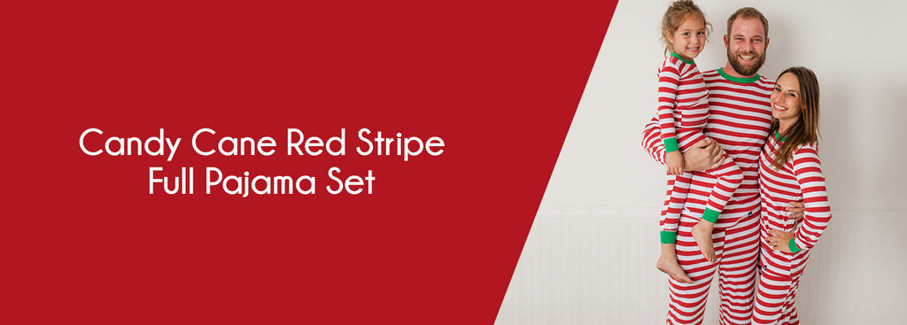 Candy Cane Red Stripe Full Pajama Set