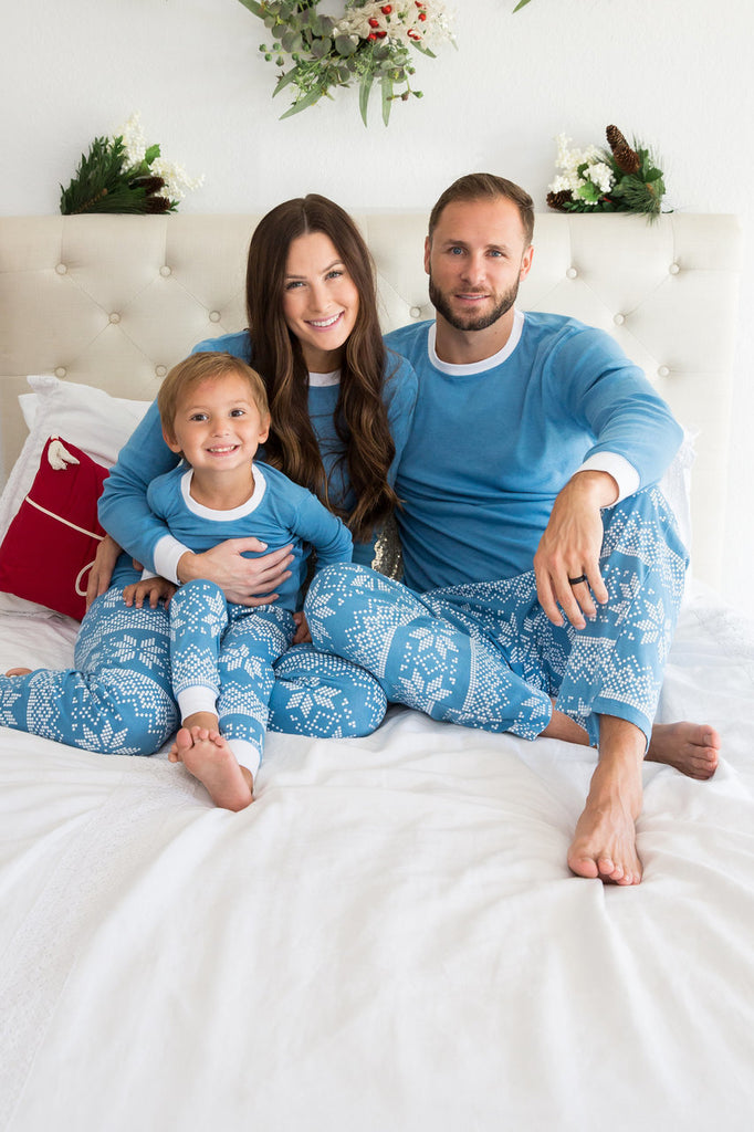 Blue Snowflake Top Pajama Set