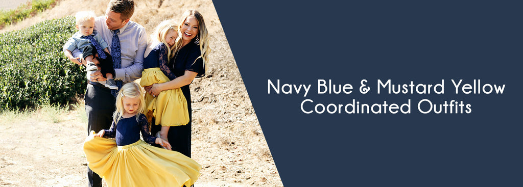 Navy Blue & Mustard Yellow Collection