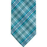 XB39 - Aqua Plaid Matching Tie
