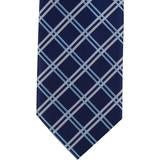 XB36 - Navy with Blue/Tan Diagonal Thin Stripe Matching Tie