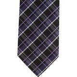 XK45 - Black/Purple/White Plaid Matching Tie