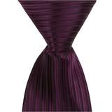 L8 - Wine with Black Pinstripe Matching Tie