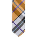 XN26 - Brown with Blue and White Plaid Matching Tie