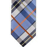 XB41 - Blue with Black/White/Orange Plaid Matching Tie