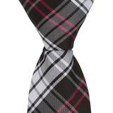XK46 - Black/White/Red Plaid Matching Tie