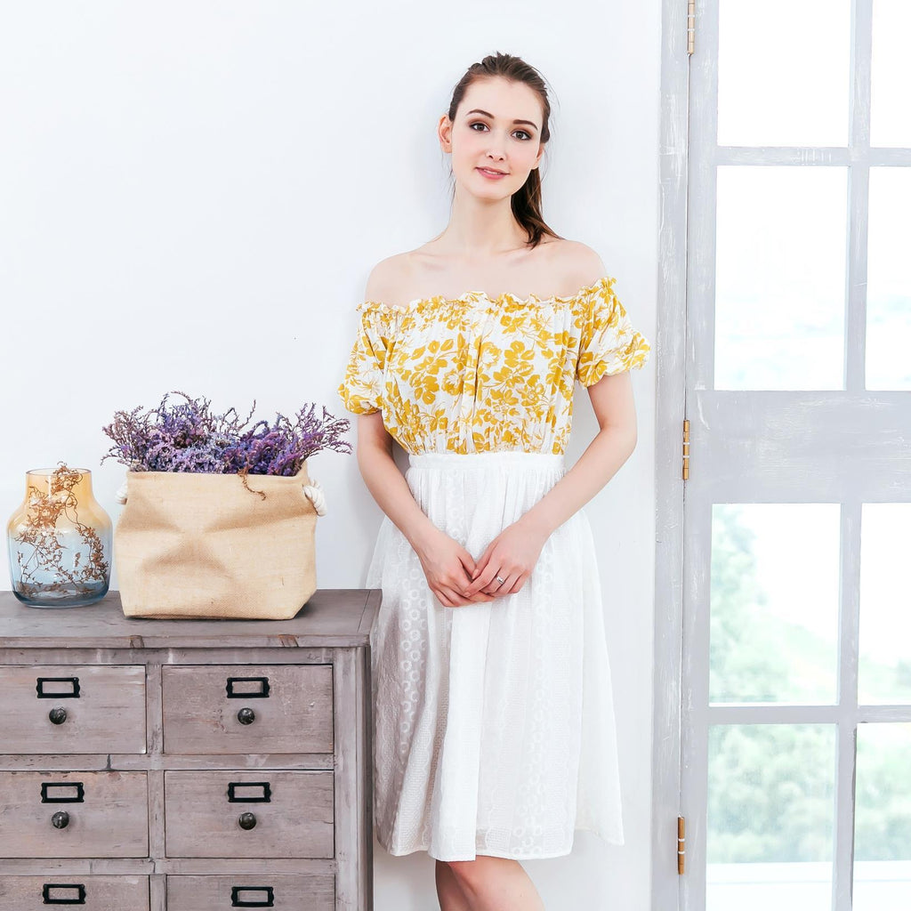 Tuscany Yellow Floral Dress - Mommy and Me