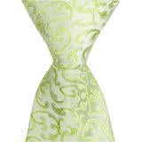G9 - Pale Green with Vines Matching Tie