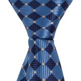 XB35 - Blue Diamond with Gold Accent Matching Tie