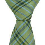 XG48 - Green/Light Blue Plaid Matching Tie