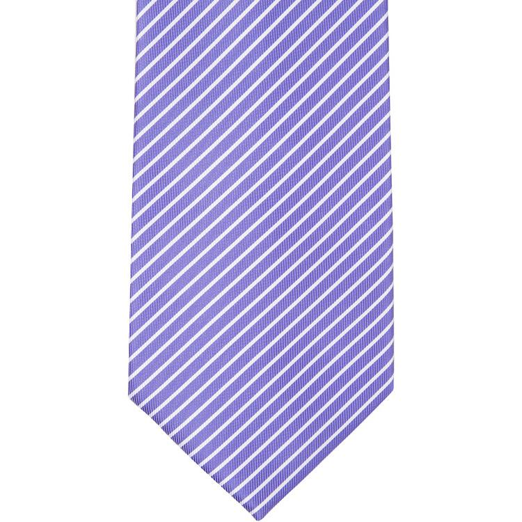 MBT14 Purple and White Stripes Bowtie and Necktie