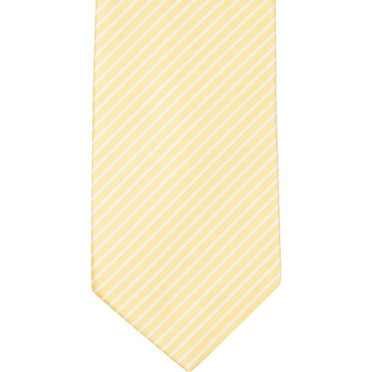 MBT1 Yellow and White Stripes Bowtie and Necktie