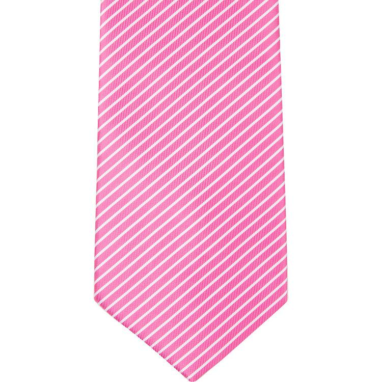 MBT6 Pink and White Stripes Bowtie and Necktie