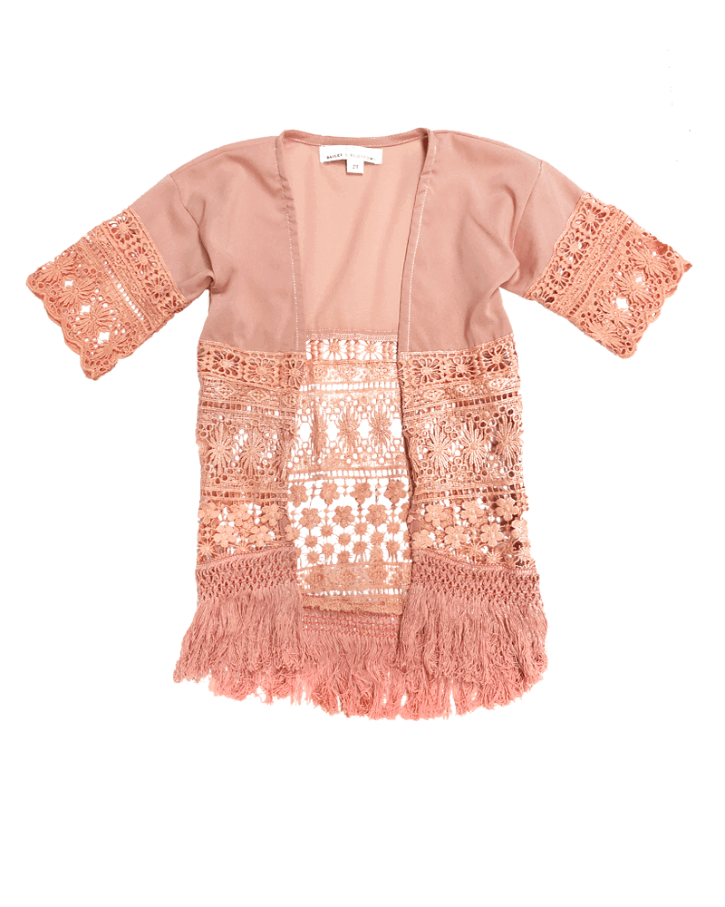 Marilyn Girl Lace Cardigan - Dusty Pink