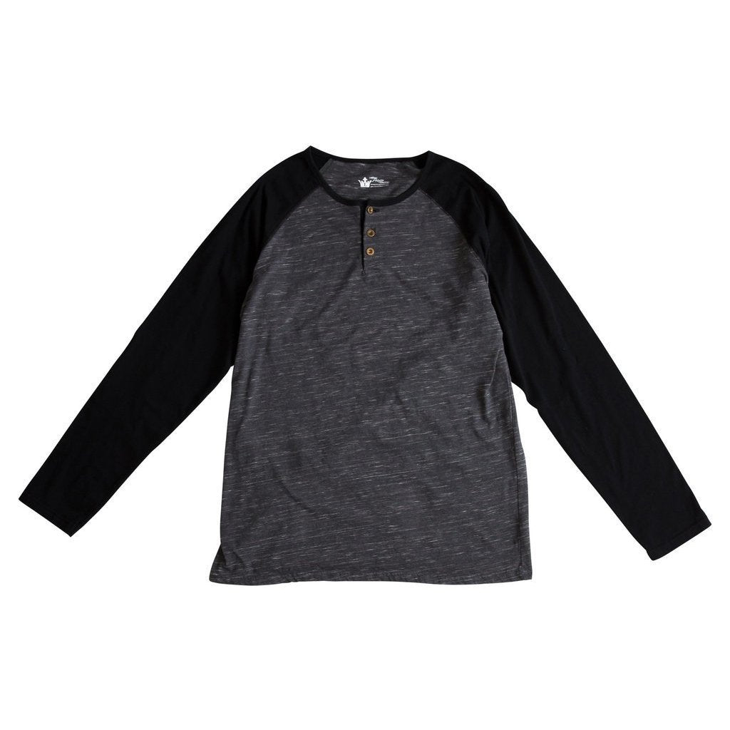 Oliver Charcoal & Black Henley Raglan Shirt and Bodysuit
