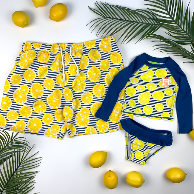 HAPPY LEMONS - DADDY+DAUGHTER - Matching Swimsuits