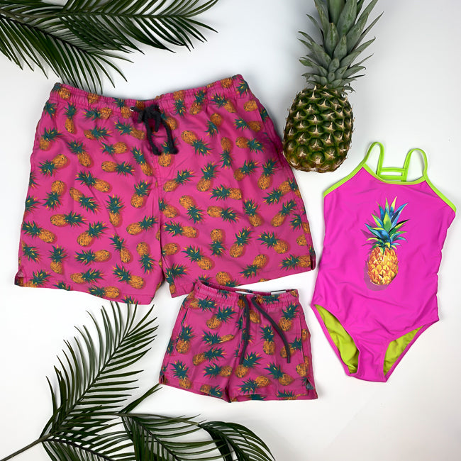 MIAMI PINEAPPLE - DADDY + DAUGHTER - Matching Swimsuits