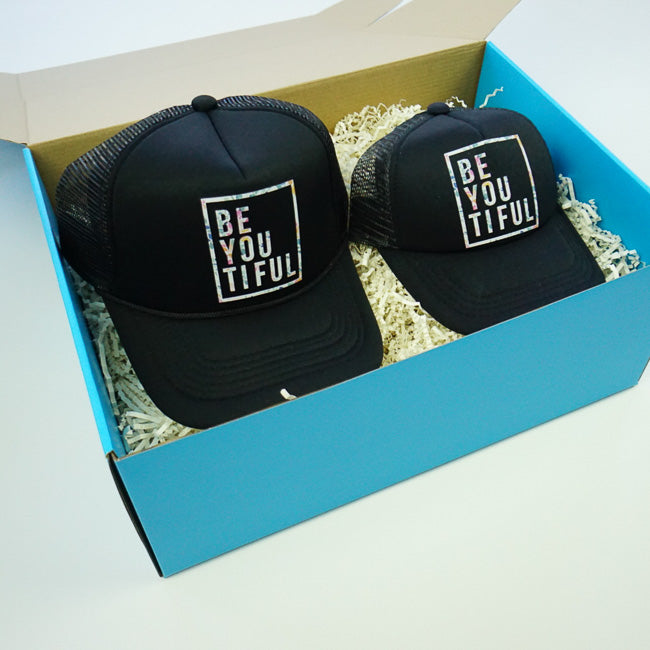 GIFT BOX : BE-Youtiful Matching Trucker Hats Set
