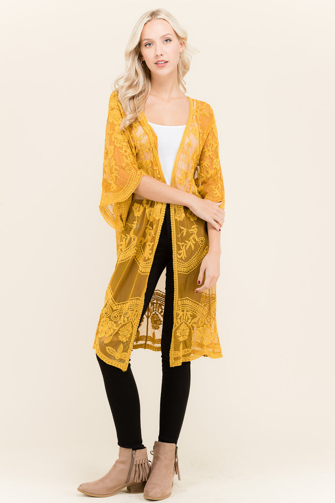 Marilyn Long Lace Cover Up