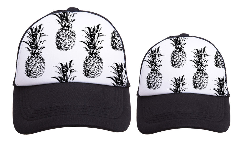 PINEAPPLE Print Trucker Hats