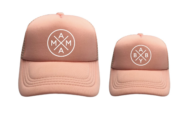 Rose Gold Trucker Hat Family Matching / Mama and Baby