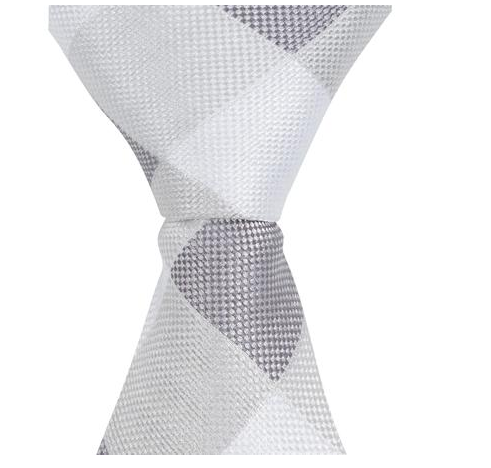 ST5 - Skinny Tie Gray Diamond Plaid