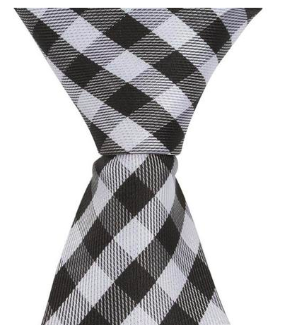 ST2 - Skinny Tie Black/White Checkered