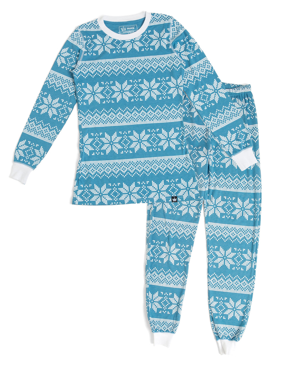 99d218e7fc Blue Snowflake Women s Pajama Full Set  Matching Family Pajamas  – Twinsies  Rock