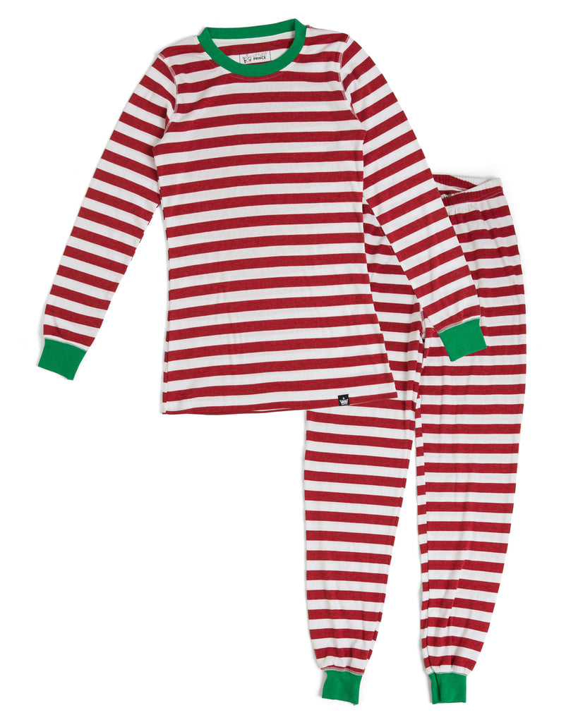 961b124480 Candy Cane Red Stripe Women s Full Pajama Set  Matching Family Pajamas