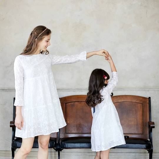 Clara Mommy & Me Snow Embroidered Dress
