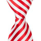 XR20 - Red and White Stripes Matching Tie