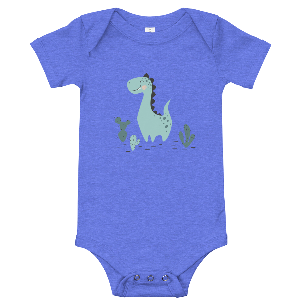 Green Dinosaur - Unisex Baby Short Sleeve Onesie - Matching Dinosaur Family | Mommy and Me | Father and Son