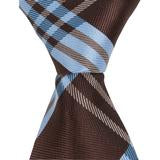 XB43 - Mocha/Blue Plaid Matching Tie
